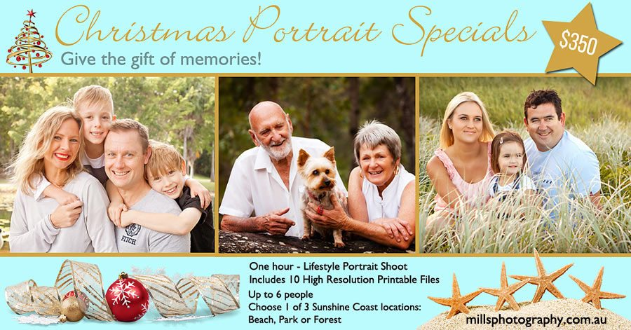 Christmas Family Portrait Gift Voucher