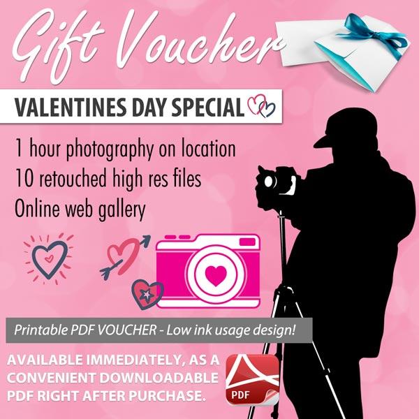 Valentines Day Photography Gift Voucher